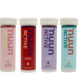 Nuun Nuun, Active, Tablets, 4 tubes, Mixed (Strawberry/Lemonade, Tropical Fruits, Grape, Fruit Punch)