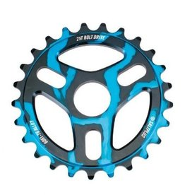 SALT PLUS SALT PLUS TRIDENT 25T BLACK/CYAN DRIP SPROCKET