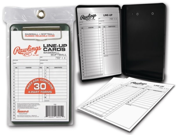 Rawlings RAWLINGS SYSTEM-17 LINEUP CARDS W/CASE