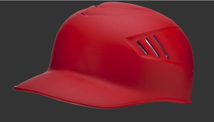 Rawlings Rawlings Adult Coolflo Base Coach Helmet Mat Scarlet LRG