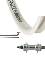 Wheel Shop Wheel Shop, Evo E-Tour 20 Silver/ Joytech JY-434, Wheel, Rear, 24'' - 36h, Bolt-on, 135mm Rim, Freewheel