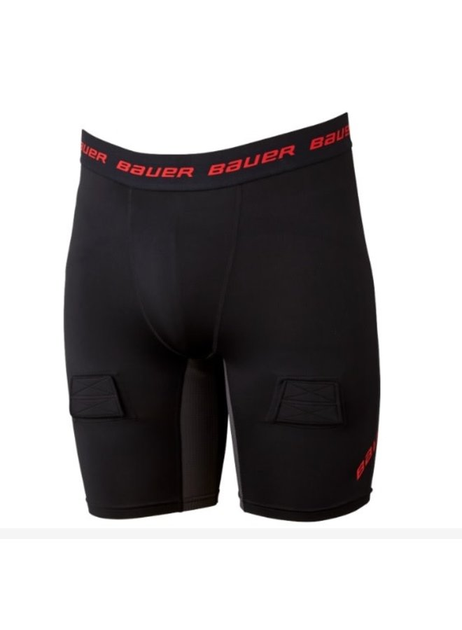 BAUER S19 ESSENTIAL COMPRESSION JOCK SHORT SR