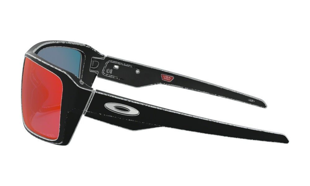 Oakley OAKLEY DOUBLE EDGE RACEWORN WHITE TORCH IRIDIUM POLARIZED