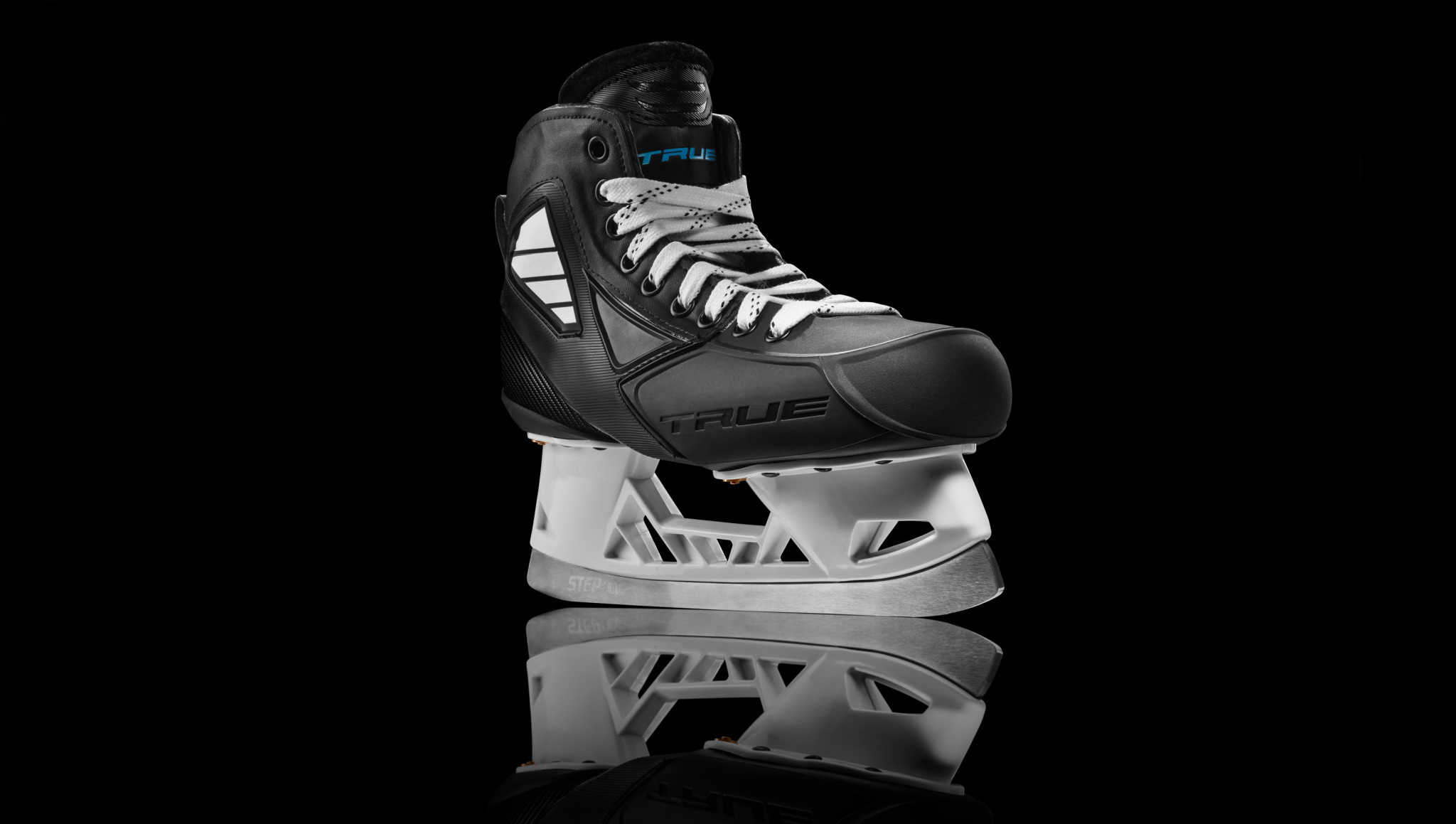 True TRUE GSK CUSTOM GOALIE SKATES TWO PIECE