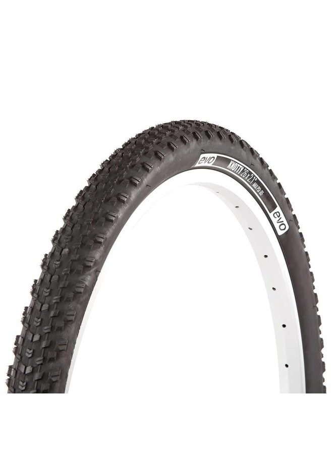 EVO, Knotty, Tire, 26''x2.0, Wire, Clincher, Black