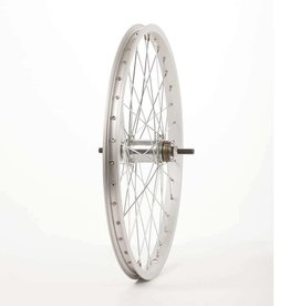 Wheel Shop Wheel Shop, Alex C1000 Silver/ Falcon Coaster, Wheel, Rear, 20'' / 406, Holes: 36, Bolt-on, 110mm, Coaster, Coaster