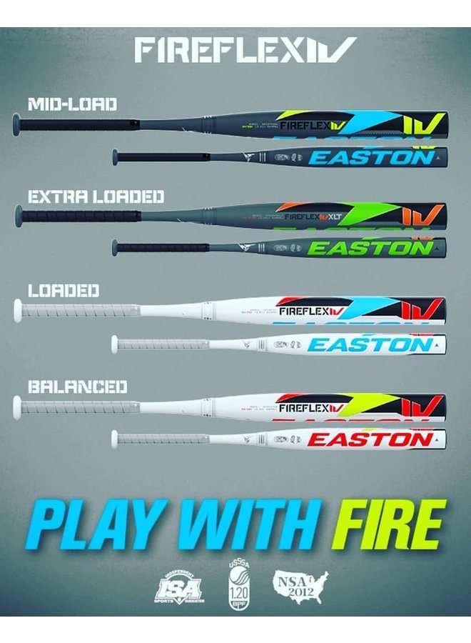 2020 EASTON FIRE FLEX IV (4) USSSA Slowpitch Softball Bats