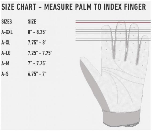 batting glove chart