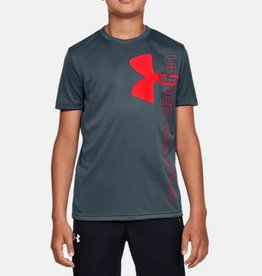Under Armour UNDER ARMOUR BOYS SPLIT LOGO HYBRID SHORT SLEEVE