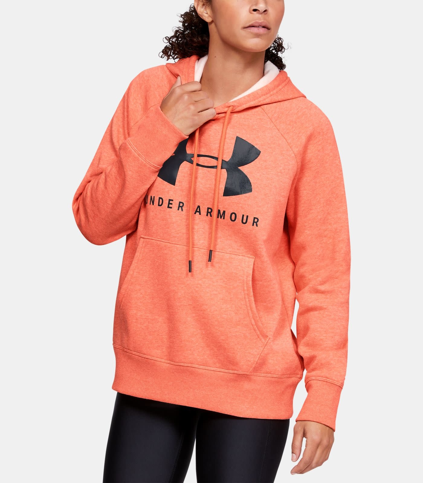 Under Armour UNDER ARMOUR WOMENS RIVAL FLEECE SPORTSTYLE GRAPHIC LOGO HOODIE