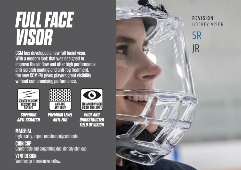 CCM Hockey 2019 CCM FULL VISOR FV1
