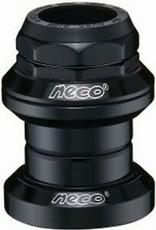 """NECO NECO HEADSET 1-1/8"""" (28.6) THREADED INTEGRATED  BLACK"""