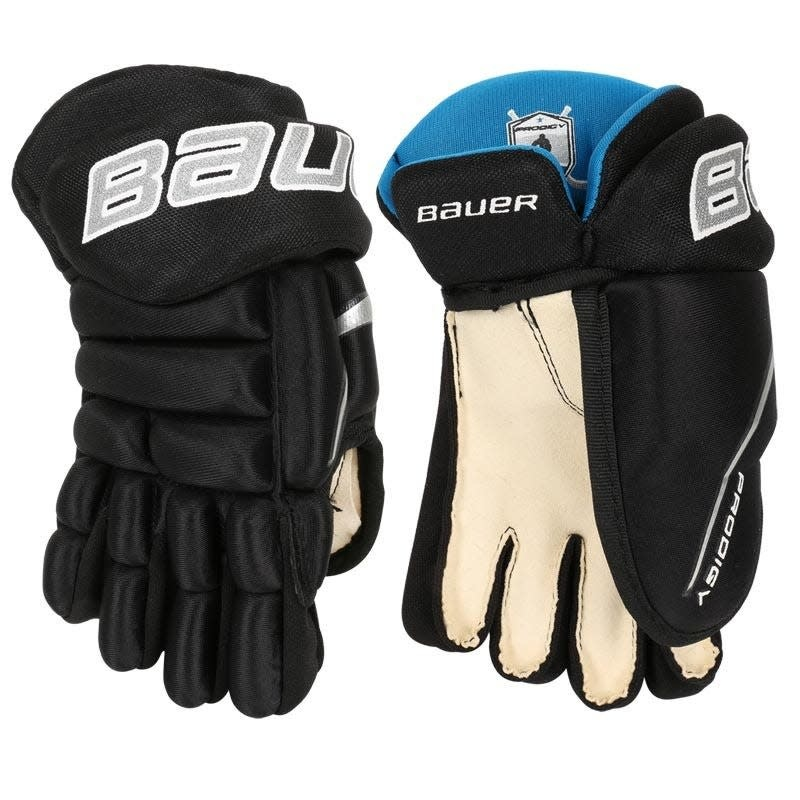 Black Bauer Youth Prodigy Ice Hockey Gloves 8 or 9 2 Piece Fingers