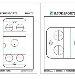 "BLUE SPORTS BLUE SPORTS RINGETTE COACHING BOARD 10"" X 16"""