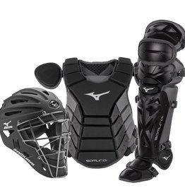 "Mizuno MIZUNO SAMURAI YOUTH BOXED CATCHER'S GEAR SET 14"" BLACK-GREY"