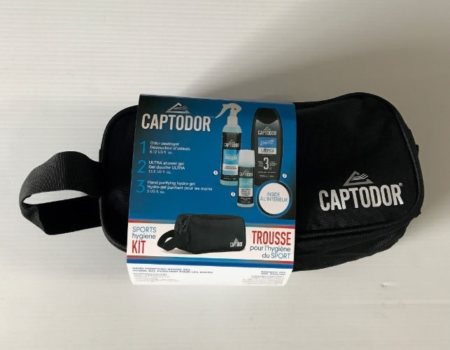 CAPTODOR CAPTODOR HYGIENE KIT (BAG,SPRAY,SHOWER GEL,HYDRO-GEL)