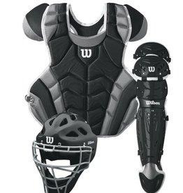 Wilson WILSON C1K Catcher's Gear Kit Adult - Black
