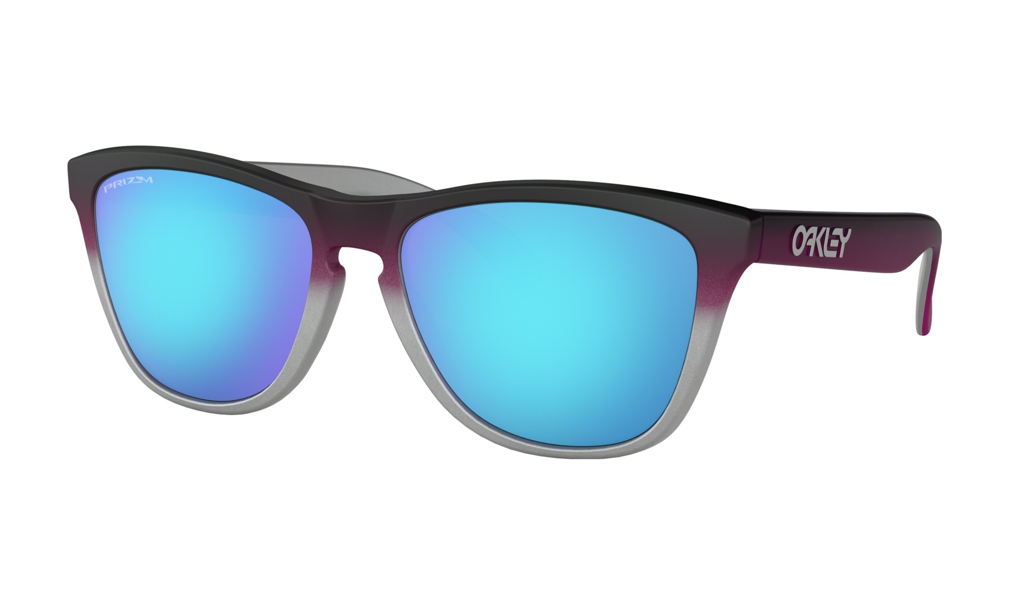 Oakley OAKLEY FROGSKINS BLACK PINK FADE SILVER WITH PRIZM SAPHIRE