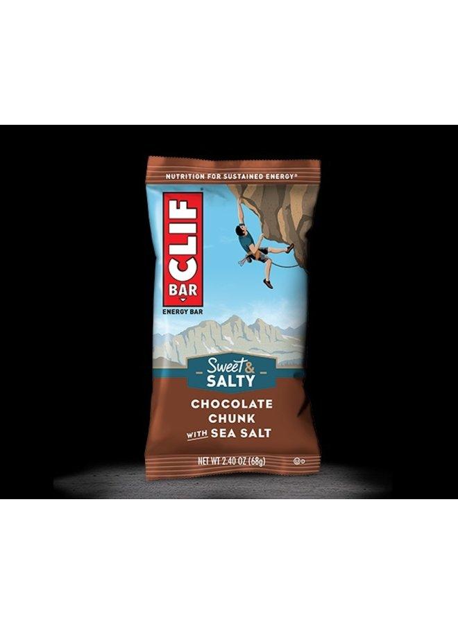 Clif, Energy bar, Chocolate Chunk with Sea salt, each