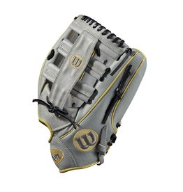 "Wilson 2020 WILSON A2000 SUPERSKIN SLOWPITCH GLOVE 13"" LHT GREY/GOLD"