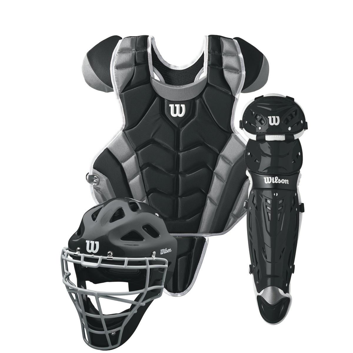 Wilson WILSON C1K Catcher's Gear Kit Int. - Black