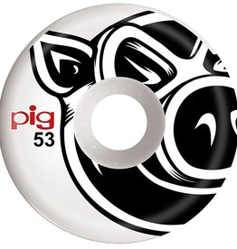 PIG Pig Wheels - Head - 53mm - Wht - set of 4.