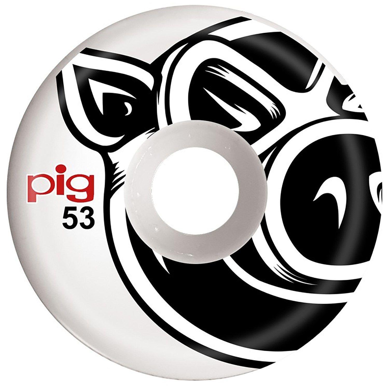 PIG Pig Wheels - Head - 53mm - Wht - set of 4.