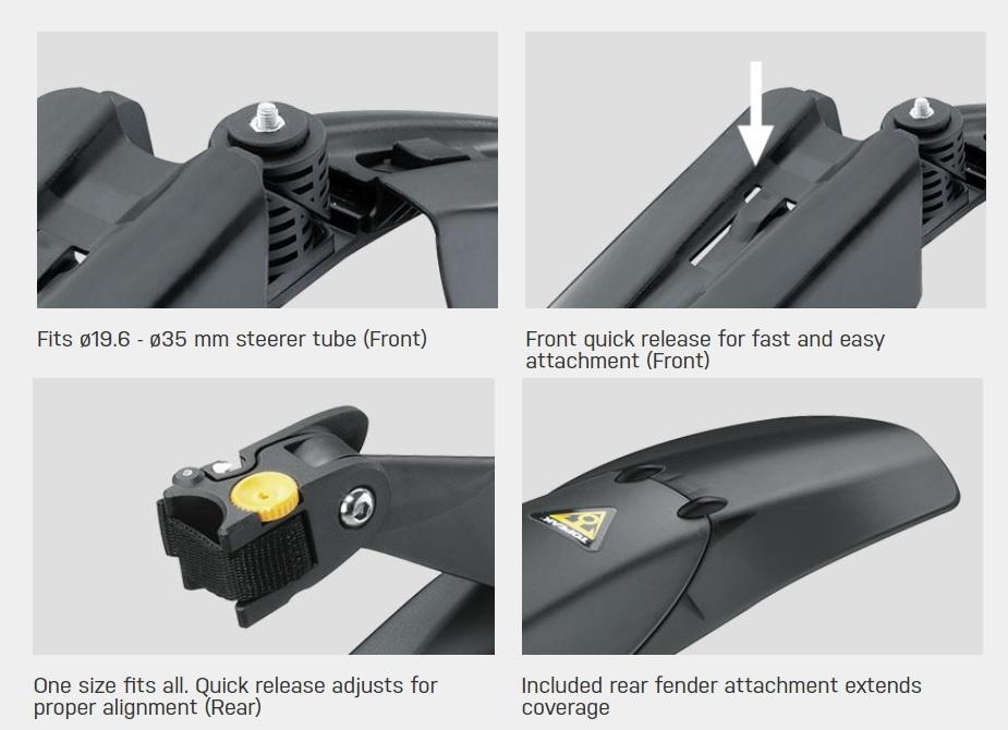 Topeak TOPEAK DEFENDER FX/RX 279ER SET FENDERS