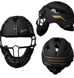Worth Miken GOLD LEGIT SOFTBALL PITCHERS MASK/HELMET DIAL FIT SYSTEM