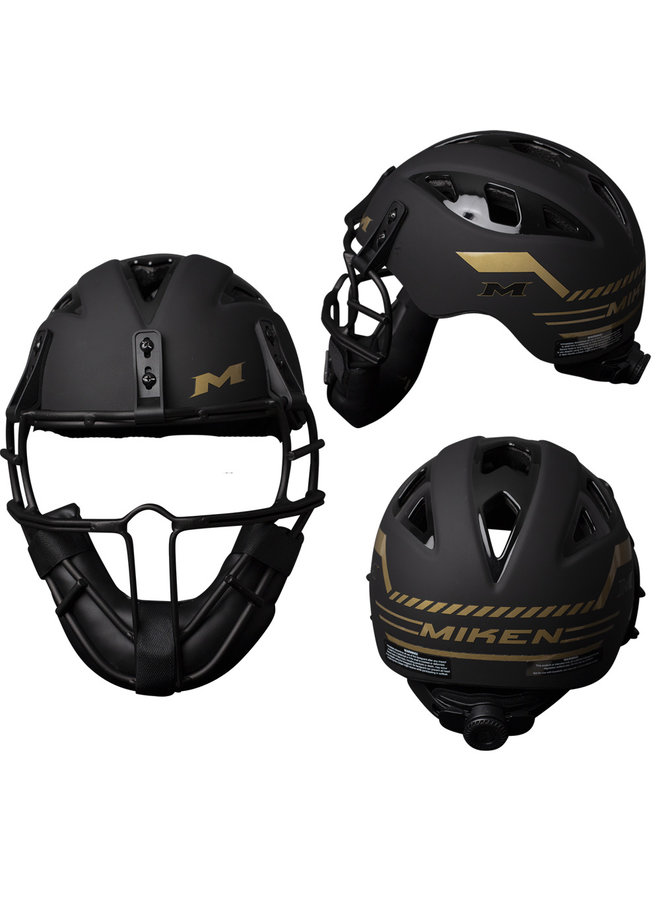 Miken GOLD LEGIT SOFTBALL PITCHERS MASK/HELMET DIAL FIT SYSTEM