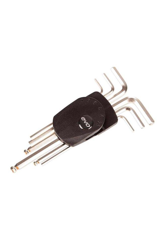 EVO, HWS-1 Hex Wrench Set, 2/2.5/3/4/5/6mm
