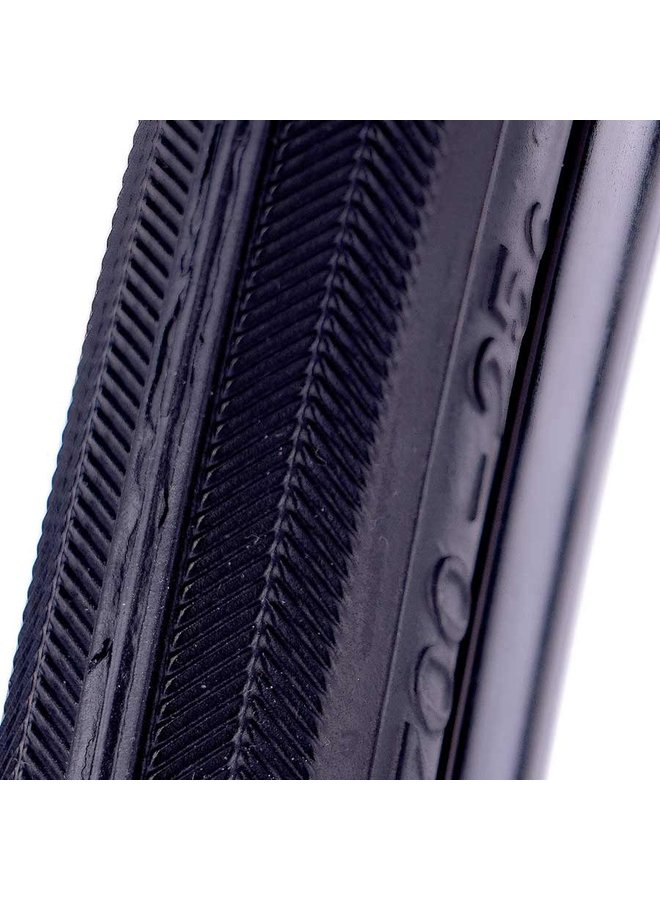 EVO, Dekko, Tire, 700x28C, Wire, Clincher, Black
