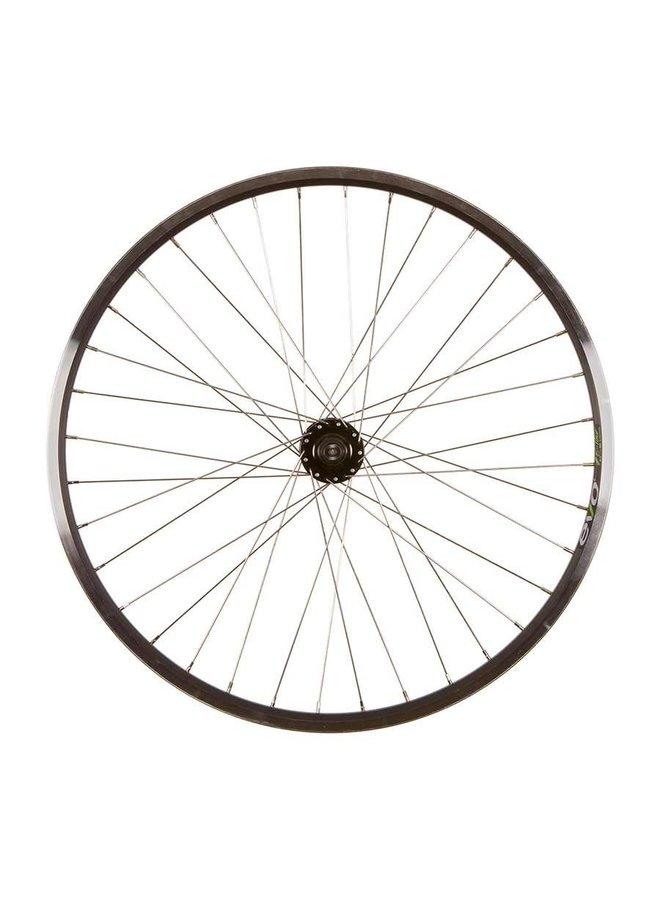 "Wheel Shp, Frnt 27.5"" Wheel, 36H Black Ally Duble Wall Ev E Tur 19/ Black Frmula DC-20 QR 6 Blt Disc Hub, Stainless Spkes"