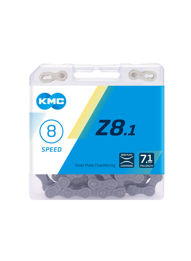 KMC CHAIN Z8.1-116 MAILLONS GREY