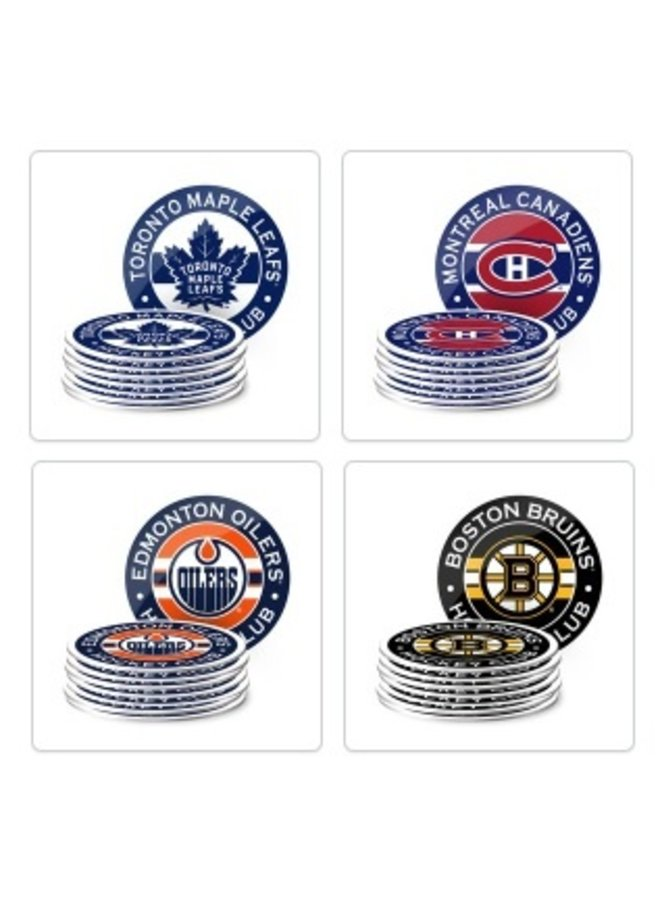 NHL Coaster Set - 8 pack