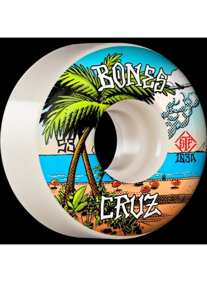 Bones STF Wheels - Sets of 4 Cruz Buena Vida V2 Locks 103A (53)