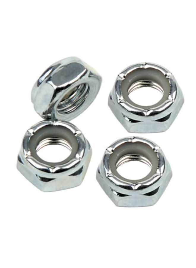 Set of 4 nuts FP 8 washers Skateboard Truck Axle Nuts /& Speed Washers