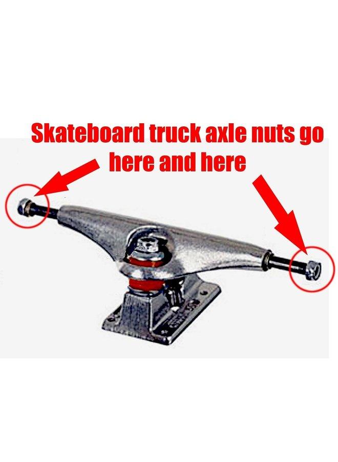 Skateboard Axle Nuts - set of 4