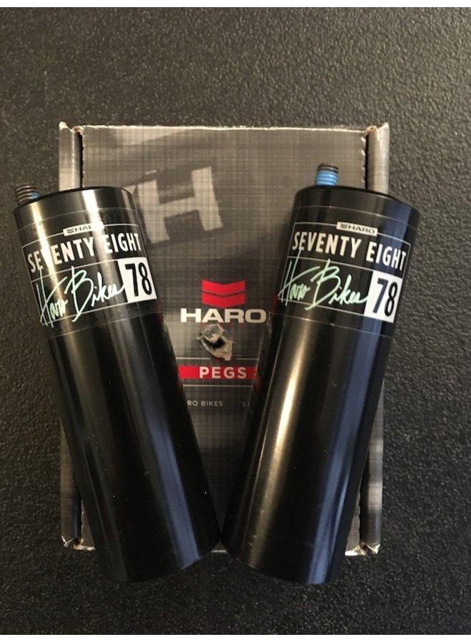 HARO 78 PEGS CR-MO BLACK