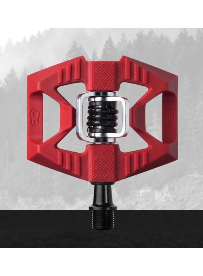 CRANK BROTHERS DOUBLE SHOT 1 PEDAL RED