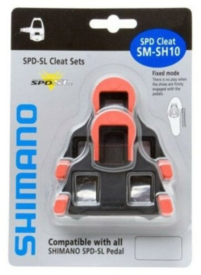 SHIMANO SPD SL CLEAT SET SM-SH10 RED FIXED MODE PAIR