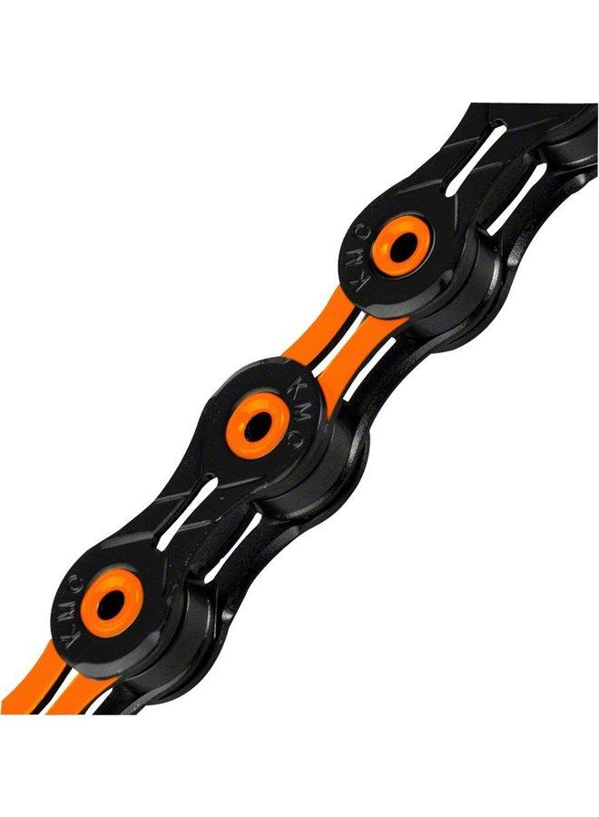 KMC X11SL Super Light Chain - 11-Speed, 116 Links, Black/Orange