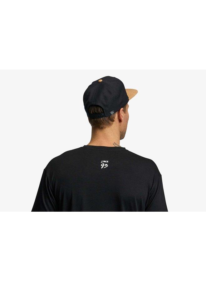 Race Face Corked Cork Brim Hat-Black/Teal-O/S