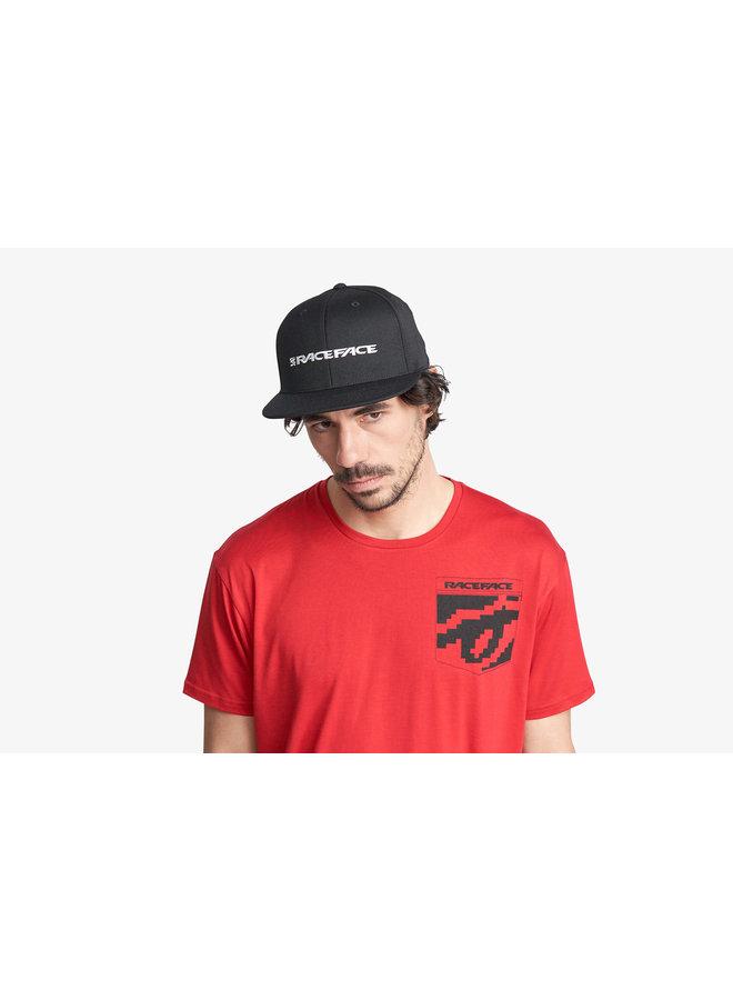 Race Face Classic Logo Snapback Hat-Black-O/S