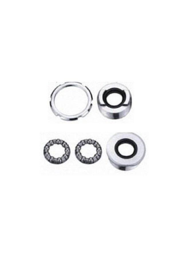 Neco Chrome bottom bracket 9 balls 1/4″ with rubber seal