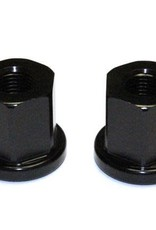"1664 1664 ALLOY AXLE NUTS - 3/8"" - blk"