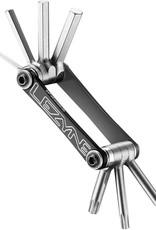 Lezyne Lezyne, V7, Multi-tool, Alloy Side Plates, Chrome/Vanadium Bits, Black/Nickel, 65g