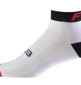 "FOX FOX 4"" TRAIL SOCK - wht/red/blk L/XL"