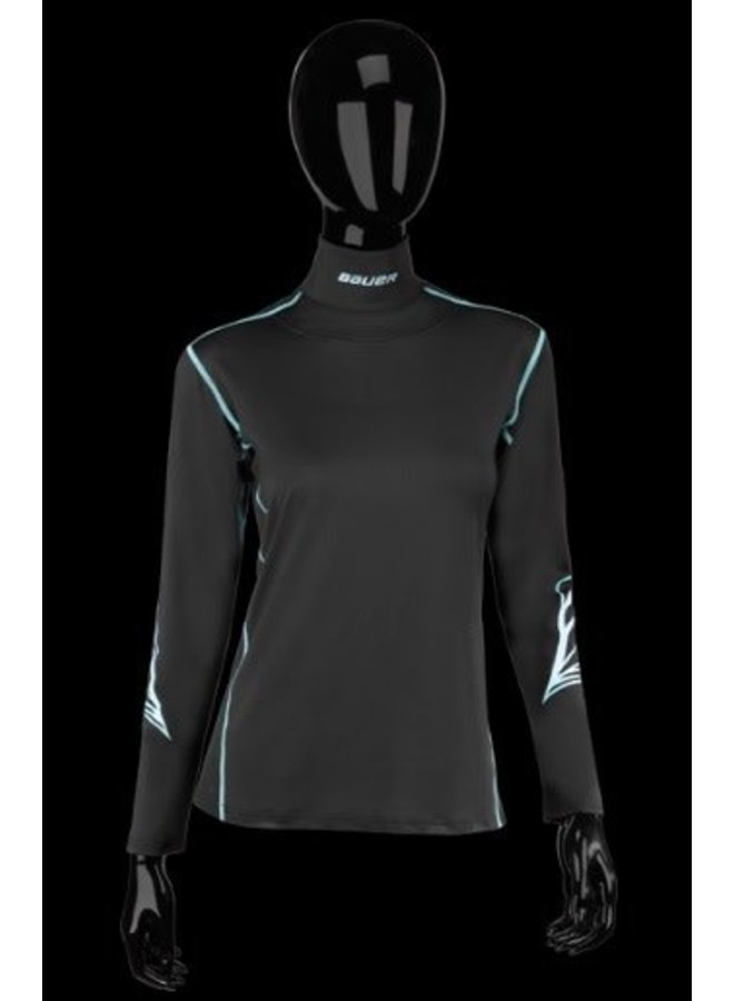 BAUER NG WOMENS INTEGRATED NECK LONGSLEEVE