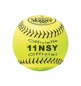 "Louisville Slugger LOUISVILLE 11"" NSA SYNTHETIC YELLOW SOFTBALL"